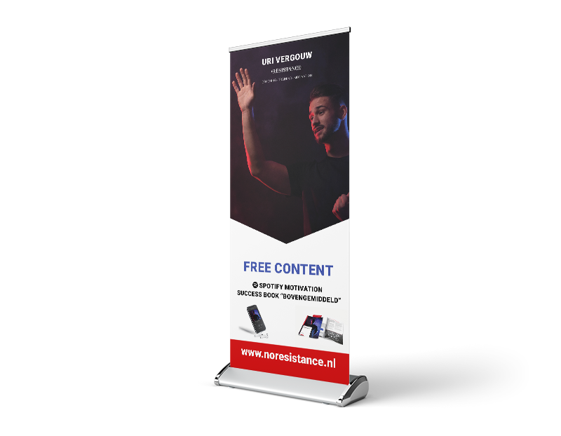 Roll-up banner Noresistance.nl